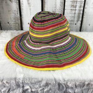 Baby Gap Rancho Sun Hat Multi Stripe Floppy